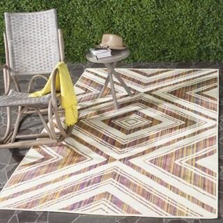 Safavieh Indoor/ Outdoor Havana Natural/ Multi Rug (8' x 11')