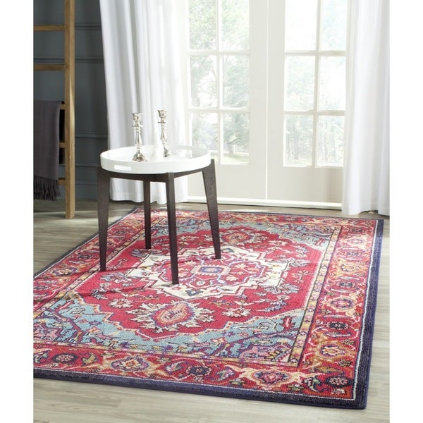 Safavieh monaco red turquoise rug 9 39 x 12 39 16687948 for 10x14 bedroom