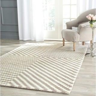 Safavieh Handmade Cambridge Grey/ Ivory Wool Rug (8' x 10')