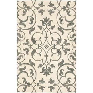 Safavieh Handmade Soho Ivory/ Grey New Zealand Wool Rug (9' x 12')