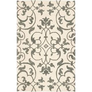Safavieh Handmade Soho Ivory/ Grey New Zealand Wool Rug (9' x 12')