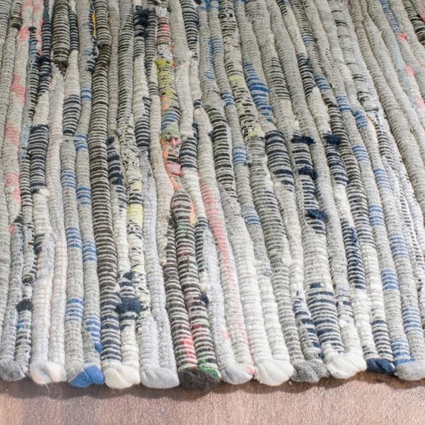Safavieh Hand-woven Rag Rug Grey/ Multi Cotton Rug (2'3 x 10')