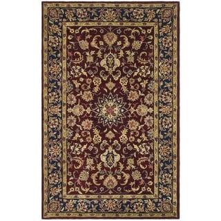 Safavieh Handmade Classic Burgundy/ Navy Wool Rug (9' x 12')