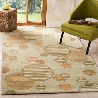 Safavieh Handmade Modern Art Brown/ Multi Polyester Rug (9' x 12')
