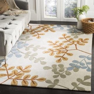 Safavieh Handmade Modern Art Ivory/ Multi Polyester Rug (9' x 12')