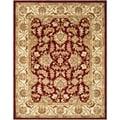 Safavieh Handmade Heritage Red/ Ivory Wool Rug (8' x 10')