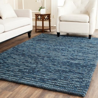 Safavieh Hand-knotted Bohemian Dark Blue/ Multi Hemp Rug (6' x 9')