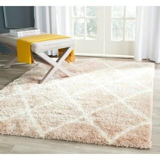 Safavieh Montreal Shag Beige/ Ivory / Polyester Rug (5'3 x 7'6)