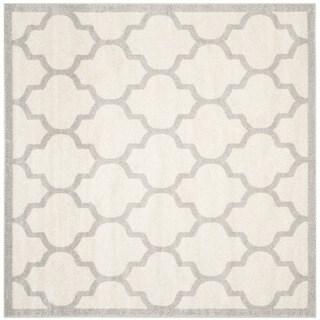 Safavieh Indoor/ Outdoor Amherst Beige/ Light Grey Rug (5' Square)