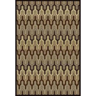 Christopher Knight Home Providence Terrain Nina Multi/ Cocoa Area Rug (7'10 x 9'10)