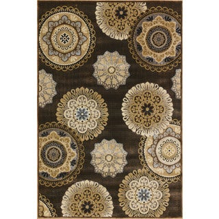Somette Providence Terrain Vintage Cocoa Area Rug (7'10 x 9'10)