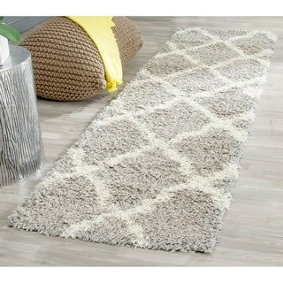 Safavieh Dallas Shag Grey/ Ivory Rug (2'3 x 8')