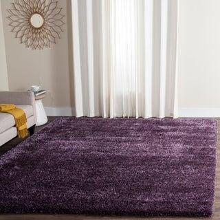 Safavieh Charlotte Shag Lavender / Polyester Rug (8' x 10')