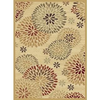Christopher Knight Home Shadows Mediterranean Chrysanthemum Multi Area Rug (3'3 x 5'3)