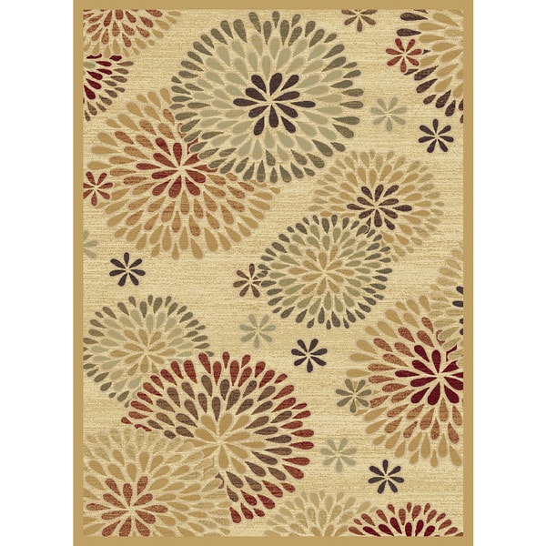 Christopher Knight Home Shadows Mediterranean Chrysanthemum Multi Area Rug (7'10 x 10'10)