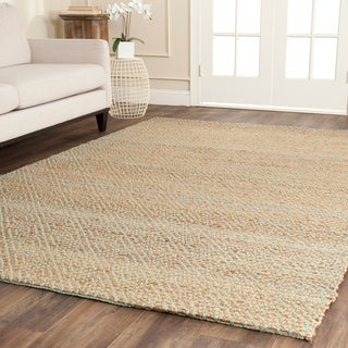 Safavieh Hand-woven Natural Fiber Natural/ Green Jute Rug (8' x 10')