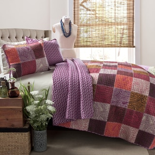 Lush Decor Paisley 3-Piece Patchwork Quilt Set