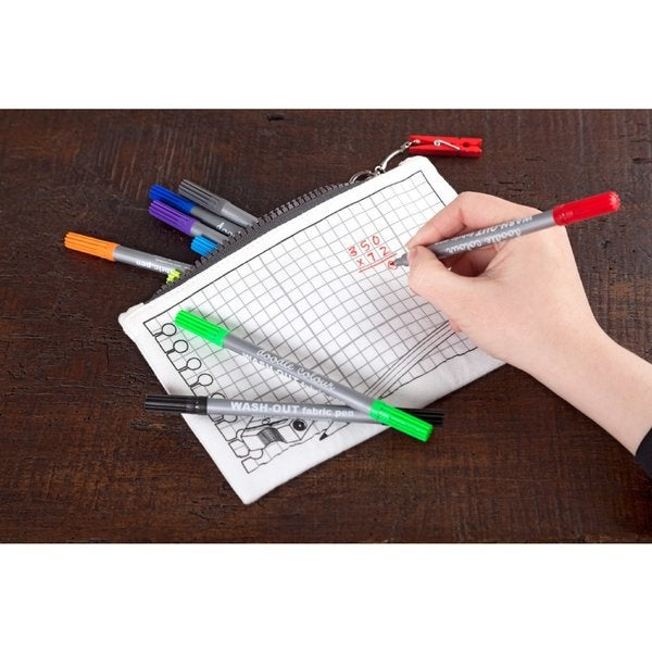 Doodle Cotton Canvas Pencil Case