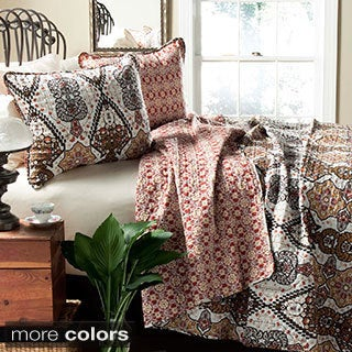 Lush Decor Nora 3-Piece Quilt Set