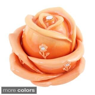 Jacki Design Bella Rosa Flower Jewelry Box