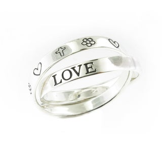 Handcrafted .925 Sterling Silver High Polish Inspirational Rolling Ring (Thailand)