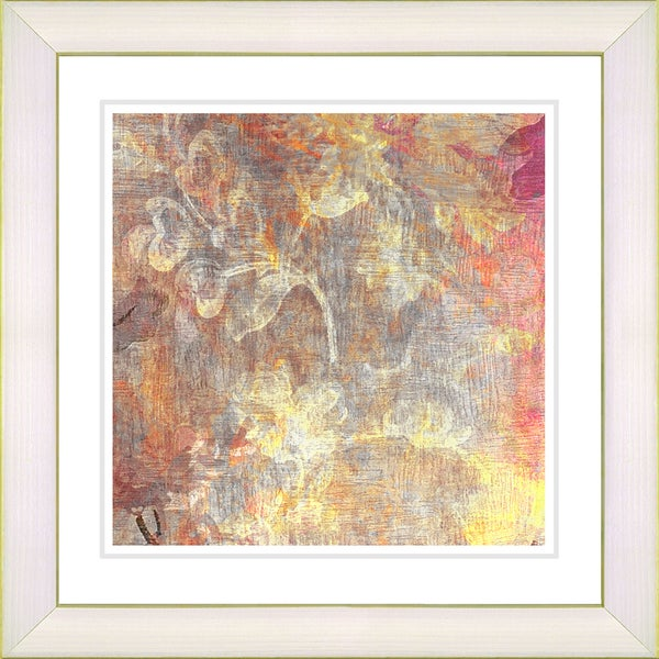 Studio Works Modern 'Pastel Liana - Pale Orange' Framed Fine Art Print