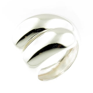 Handcrafted .925 Sterling Silver High Polished Bypass Ring (Thailand)