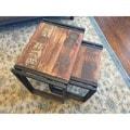 Timbergirl Reclaimed Wood/ Blackened Iron 2-piece Nesting Table Set (India)