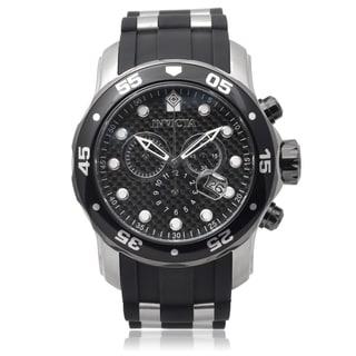 Invicta Men's 17879 Pro Diver Quartz Chronograph Silicone Band Watch