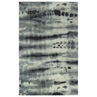 Hand-tufted Artworks Grey Tie-dye Rug (9'6 x 13')