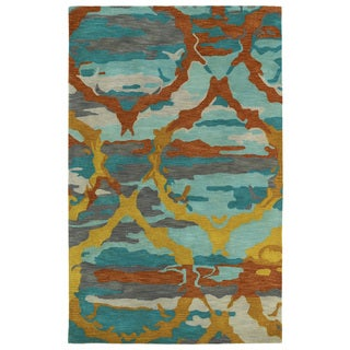 Hand-tufted Artworks Multi Tie-dye Rug (8' x 11')