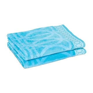 Geometric Lines Jacquard Set of Two Beach Towels