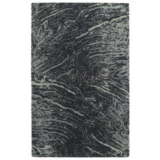 Hand-tufted Artworks Charcoal Waves Rug (9'6 x 13')