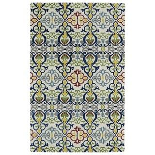 Hand-tufted de Leon Boho Ivory Rug (2' x 3')
