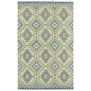 Hand-tufted de Leon Tribal Ivory Rug (9' x 12')