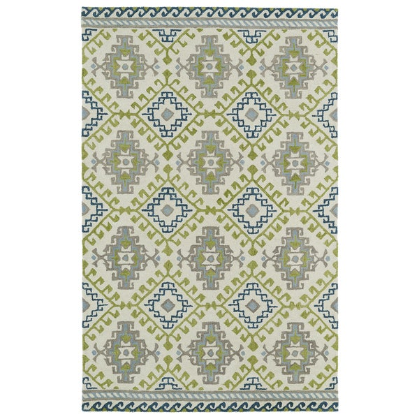 Hand-tufted de Leon Tribal Ivory Rug (3'6 x 5'6) 14114589