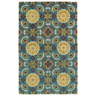 Hand-tufted de Leon Turquoise Area Rug (9' x 12')