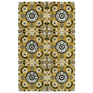 Hand-tufted de Leon Yellow Rug (9' x 12')