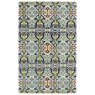 Hand-tufted de Leon Boho Ivory Rug (8' x 10')