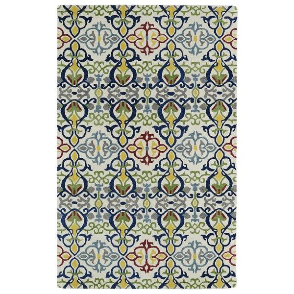 Hand-tufted de Leon Boho Ivory Rug (3'6 x 5'6) 14114604