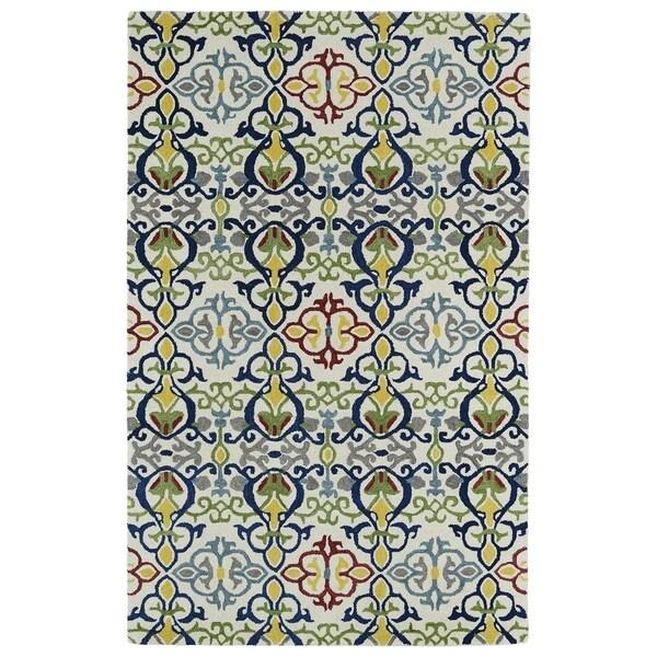 Hand-tufted de Leon Boho Ivory Rug (3'6 x 5'6) - 3'6 x 5'6 14114604