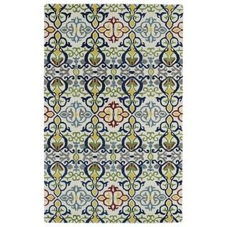 Hand-tufted de Leon Boho Ivory Rug (5' x 7'9)