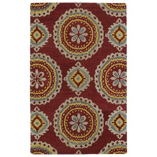 Hand-tufted de Leon Red Rug (9' x 12')