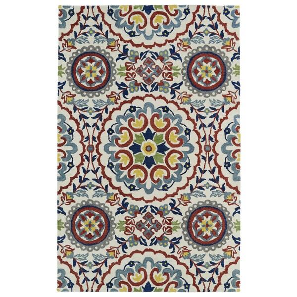 Hand-tufted de Leon Suzani Ivory Rug (3'6 x 5'6) 14114654