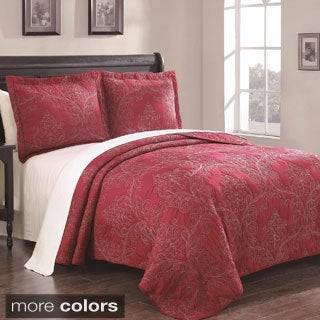 Whilshire 3-piece Cotton Embroidered Quilt Set