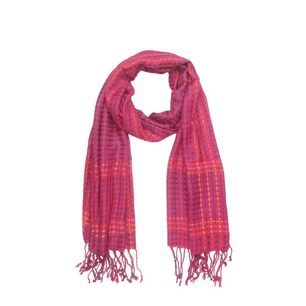 In-Sattva Colors Multicolored Vertical and Horizontal Stripe Scarf (India)
