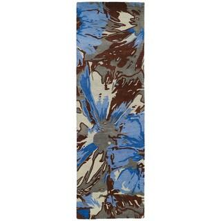 Hand-tufted Artworks Multi Floral Rug (2'6 x 8')