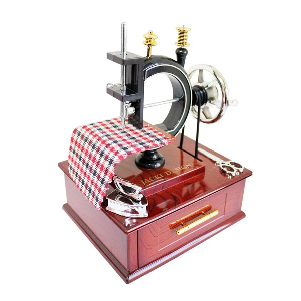 Jacki Design Vintage Sewing Machine Music Box