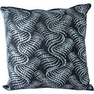 16 x 16-inch Sequined Embroidered Decorative Throw Pillow