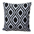Auburn Textiles Cotton Modern Black/ White Printed Throw Pillow